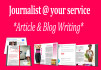 research and write Engaging Content
