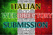do 50 quality Italian directory submission services