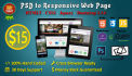convert PSD to Responsive HTML5,CSS3 using Bootstrap 3