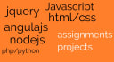 do html, css, javascript assignments