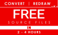 redraw, convert to Vector in 2 hours, FREE source files