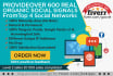 provide over 1000 Real Organic Social SIGNALS From The Top 5 Social Networks