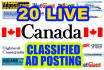 post your Ads on 20 top rated CANADA classified website