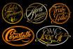 do label, badge logo, seal