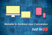 convert your website to Android and IOS App