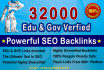 build 32000 High Pr Edu and Gov backlinks  With GSA