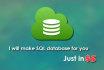 design SQL database for you