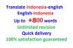 translate English to indonesian or reverse