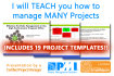 teach you how to manage many projects, by a certified PMP