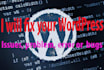fix your WordPress Issues, problem, error or  bugs