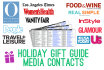 provide you 350 Holiday Gift Guide media contacts