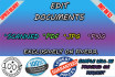 do Documents Editing Of Psd, Pdf, Jpeg , Png in Photoshop