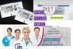 design awesome social media banner, cover, header