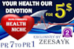 do Maually 20 permanent Backlinks PR1To PR7 Health Niche Blog Comment