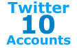 give 10 Twitter Accounts
