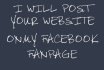 post your website on my facebook page