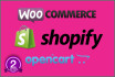 add 50 products in opencart, woo commerce, or shopify
