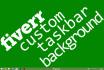 create a custom taskbar background for you