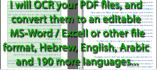 ocr your pdf file, and convert to word or excel