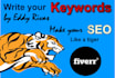write you keywords for your web site