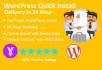 install wordpress, setup wordpress, update wordpress site