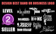 design awesome band or business logo