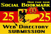 25 hosted German social bookmarking and 25 German web directory