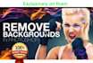 remove Background of your 10 images professionally