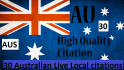 do 30 Australian Live Citations for Local Business Listing