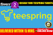 design your Teespring tshirts