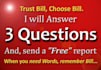 answer 3 Relationship Questions in Detail with a Free Short Report