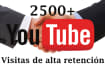 youtube enviarte 2500 visitas views reales en tu video