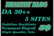 give you 5 sites, DA 30 Healthy Blog