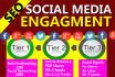 build SEO 3 Tiers Social Media Engagement Pyramid
