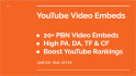 do 26 PBN YouTube video embeds