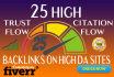 build 1000 High Trust Flow backlinks on High DA sites