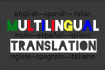translate to or from English, Spanish or Italian