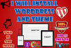 install Wordpress and desired Theme