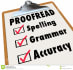 do proofreading and editing of ur work