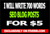 write 700 words seo article