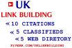 provide organic link building service for UK based business
