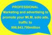 promote your Solo ads,mlm,ebay,website amazon,Shopify,Esty,