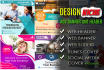 create a professional web banner,ads,cover and header