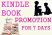promote free,Paid Kindle BOOK 3 times for7 days to Book loving Facebook Groups