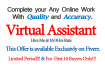 be your Virtual assistant, VA and Work for 3 hrs