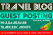 travel guest post on high traffic blog