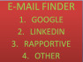find valid email from any source