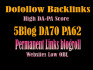 give you Permanent blogroll 5Site  DA70 PA62
