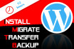 install, backup, migrate your WordPress site