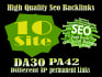 give you 10 Permanent Backlink on Homepage Website DA30 with differen IP
